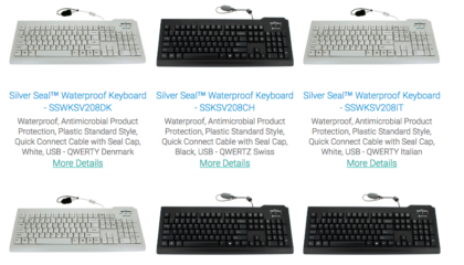 Medical Keyboards from SS