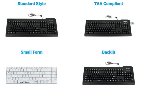Medical keyboard from seal shield